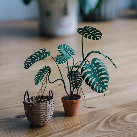 精致的纸艺小盆栽