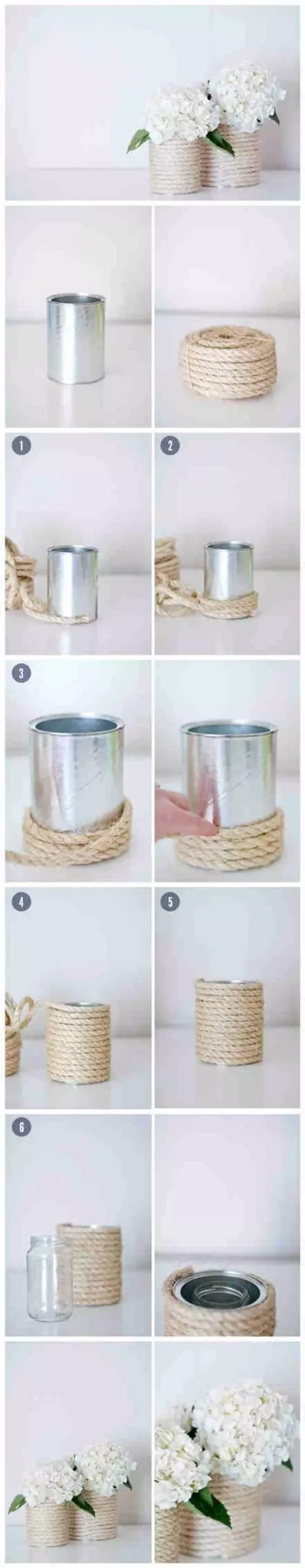 铁罐旧物改造的创意手工作品,让生命多一点点精彩
