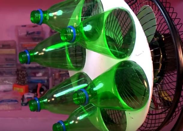 风扇加上几个塑料瓶,就能使吹出来的风狂降5度!
