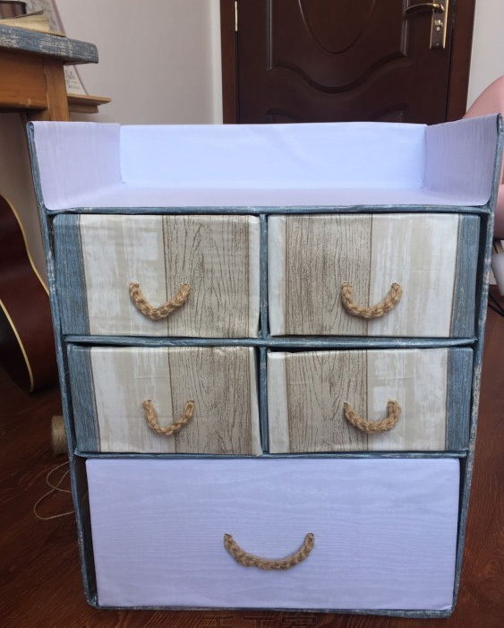 教你用废旧纸箱diy一个鞋柜