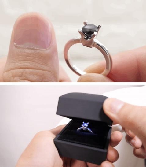 日本小哥用攒了一年的指甲diy了一个戒指
