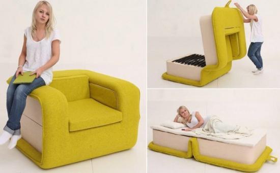 简约可爱沙发睡床