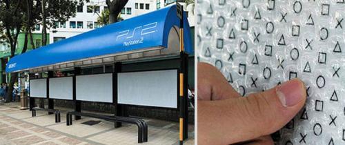 秀创意_心情_公交车站创意广告