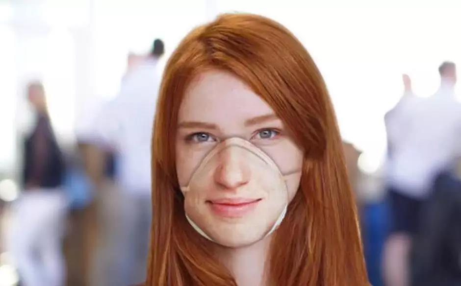 将嘴型打印在上面的N95口罩,可过Face ID 售价280元