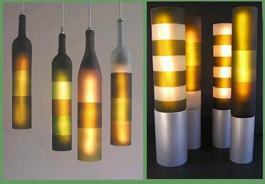 酒瓶手工灯具