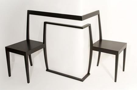 单个家用椅子手绘图