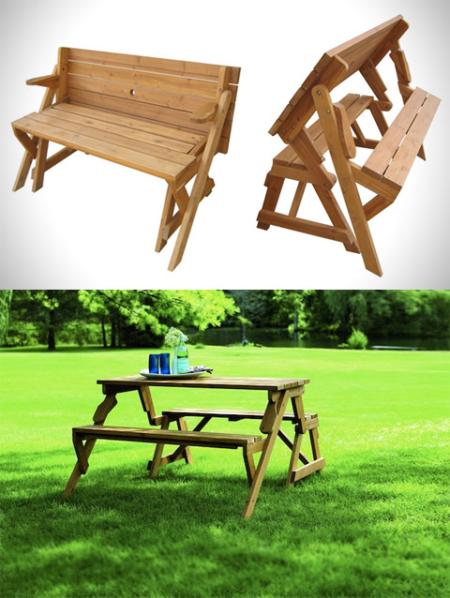 方便的长椅与长桌