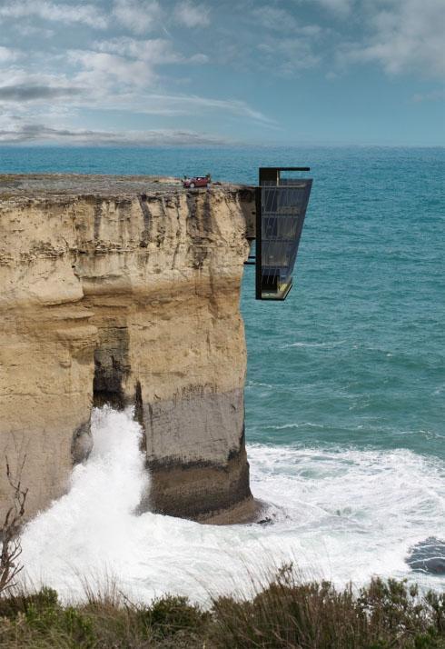 悬崖壁上的度假小屋 你敢住吗?