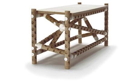 """""""千疮百孔""""的木棍连接家具"""