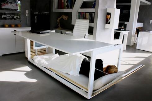 Nap Desk办公桌:办公睡觉二合一