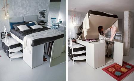衣柜与床的结合