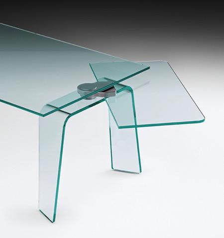 伸展结构的玻璃桌