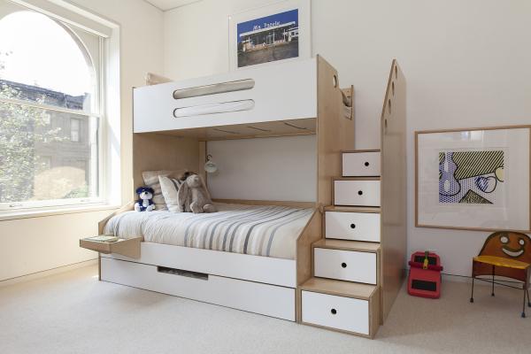 简约时尚的一体式定制儿童床