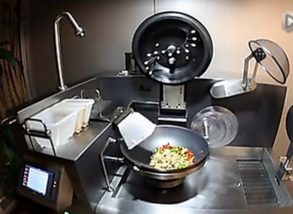 德国自动做饭机 做完连锅都洗干净