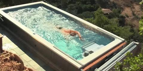 Endless Pools迷你泳池 可控制水流速度让你尽情畅泳