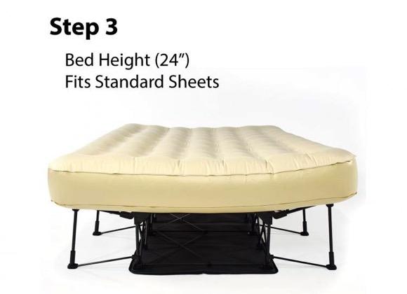 自动伸展和折叠的双人充气床,方便又实用-玩意儿