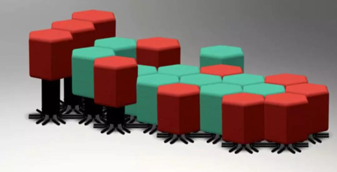 蜂巢形状的智能组合沙发,发挥想象灵活组合