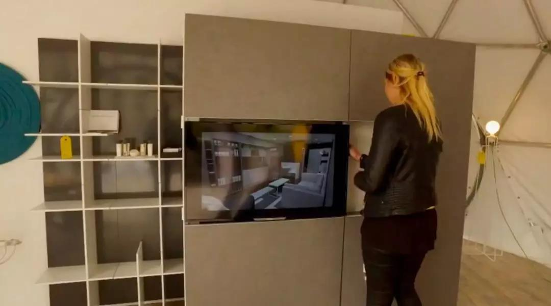 原来电视柜和厨房也能结合在一起