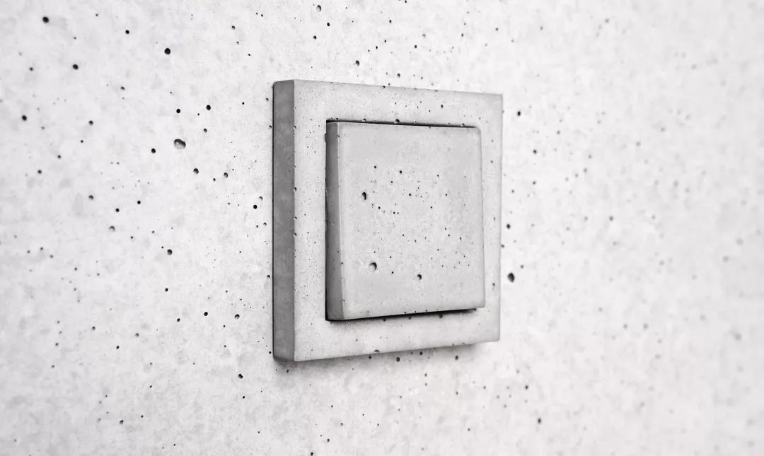 这个用混凝土做的开关插座 你见过吗?