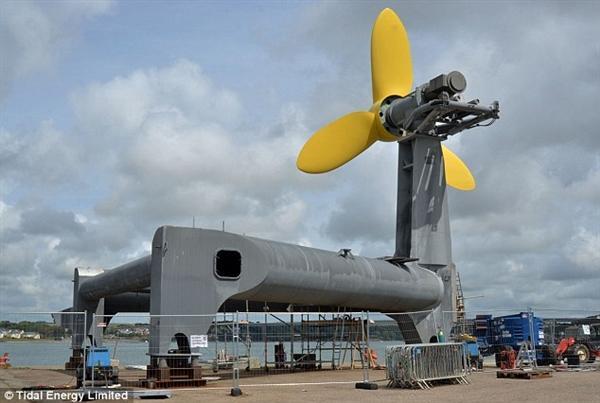 威尔士首个潮汐能发电机