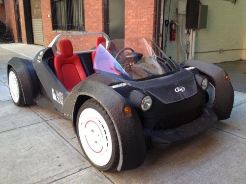 全球首款3D打印电动汽车—斯特拉迪