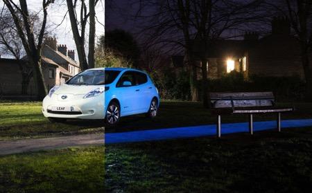 Nissan夜光电动车Leaf