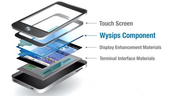 京瓷公司展示太阳能屏幕充电手机