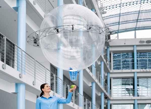 Festo最新仿生项目:飞球无人机 可自动抓取物件
