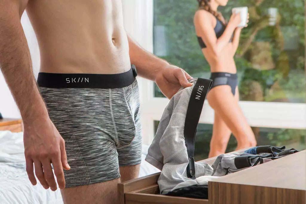 SKIIN智能内裤 震动裤裆叫你起床监测身体健康状况