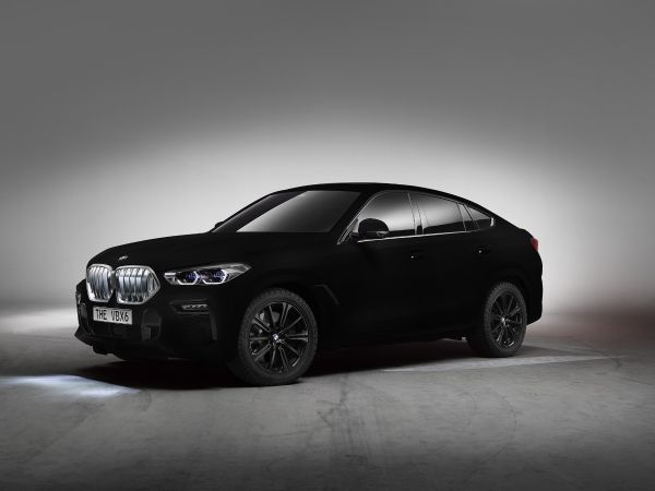 史上最黑的宝马X6,黑到连车身流线纹也看不清