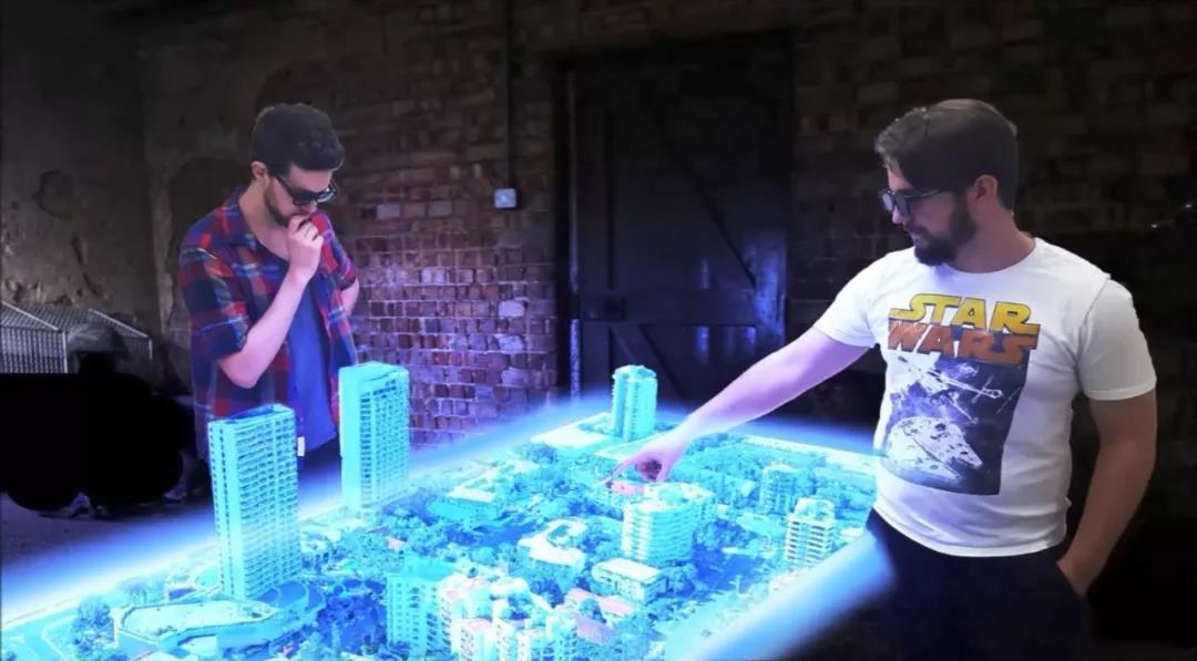 多人互动全息投影桌来了!可从不同角度观看立体影像