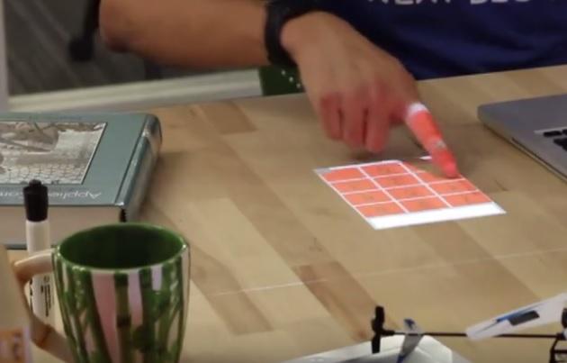 这个黑科技可将书桌变成触摸屏