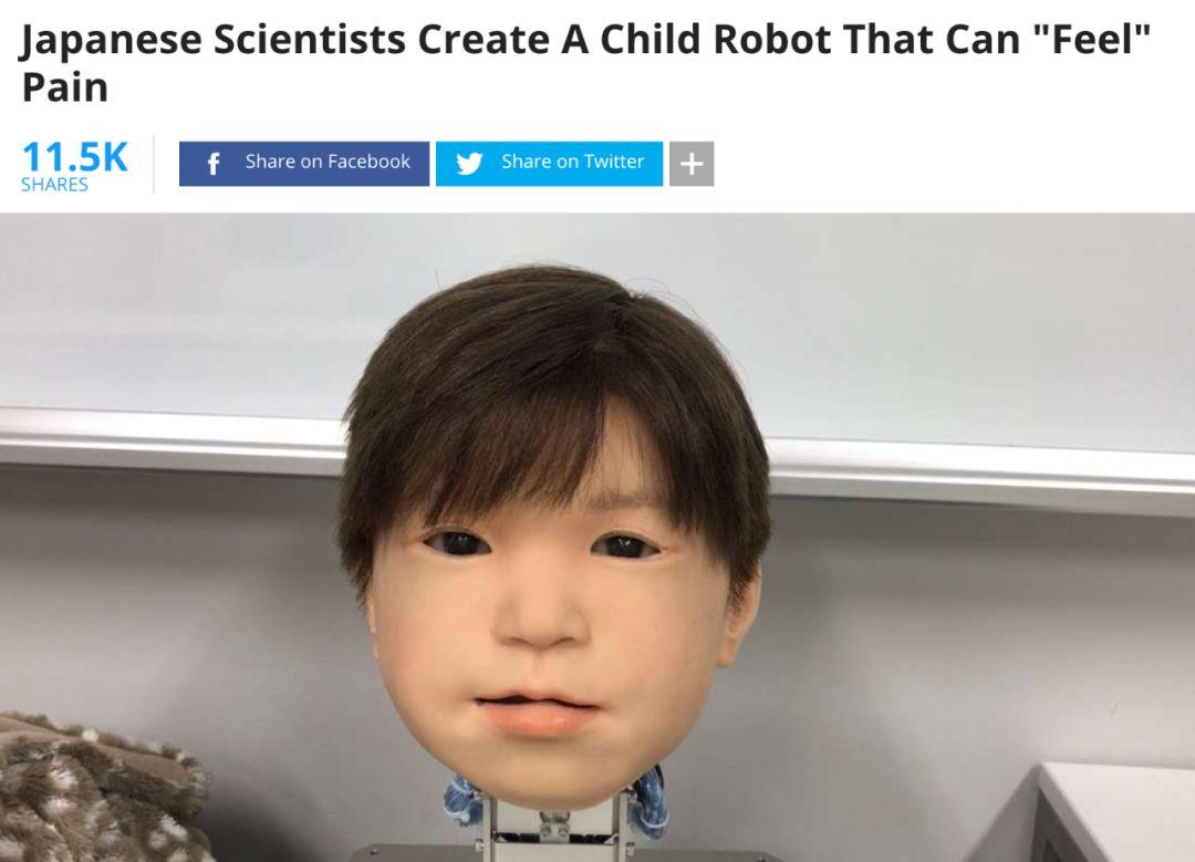 """日本造出诡异""""大头娃"""",面部表情仿真度极高"""