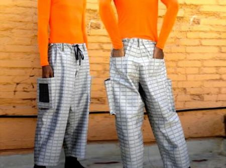 创意太阳能板裤子