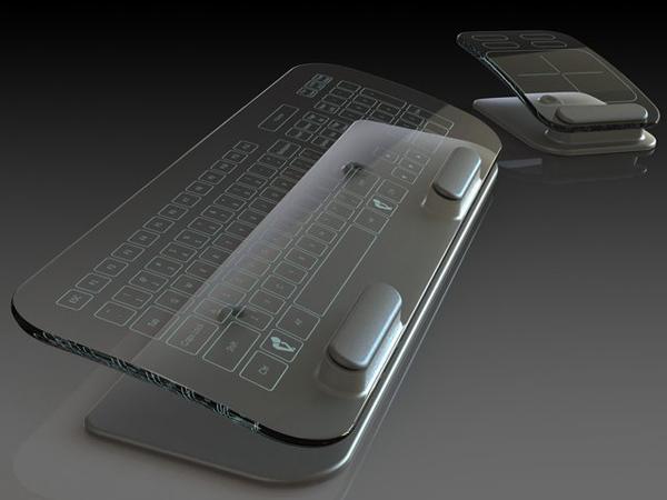 这款多点触控玻璃鼠标与键盘是不是充满时尚感?它使用用多点触感界面玻璃来制造的,这玻璃易于清洗,而且它有着抗磨性好、不易折断的特点,它经过多种高强度的破坏性测试来保证它的质量。底部有个金属底座作支撑并且内表面有丝印键盘位置分布。玻璃键盘与鼠标都是无线的,且内置电池可以随时充电。它采用FTIR触摸技术,这种技术越来越受到设计师们的喜欢,它还有一个优点,就是可以通过红外线射线追踪手指划过的位置并在电脑中保存着详细的击键记录。这个新潮的玩意对你是否有着极大的吸引力?