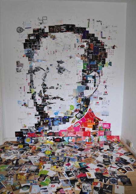 明信片拼成的名人头像-产品描述-玩意儿