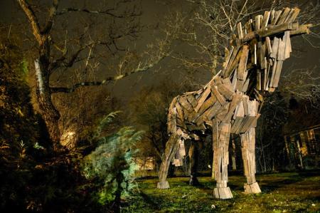 巨型木板动物雕塑-详细描述-玩意儿