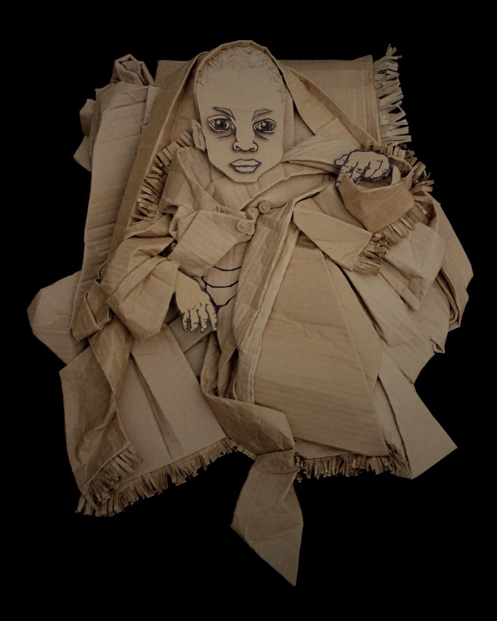 趣味纸板肖像艺术-具体内容-玩意儿