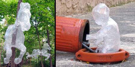 透明胶带雕塑艺术
