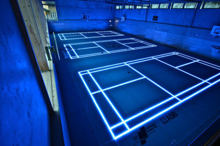 适应不同运动的体育馆玻璃地板-详细描述-玩意儿