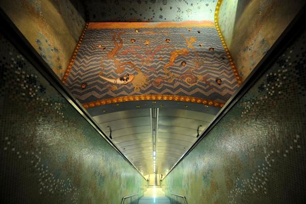 Materdei地铁站,那不勒斯