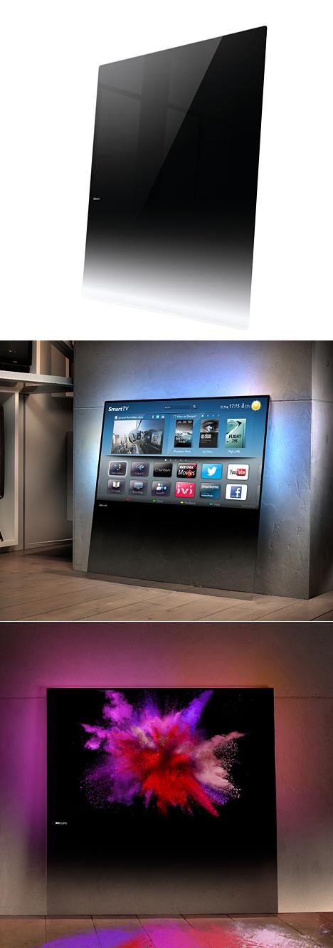 飞利浦超薄大玻璃电视-内容详情-玩意儿