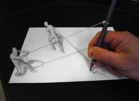 迷惑眼球的平面素描-具体内容-玩意儿