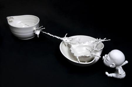 生动的陶瓷雕塑艺术