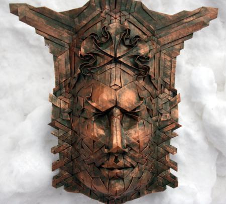 逼真的折纸面具-详细描述-玩意儿