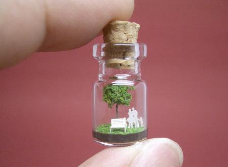 小玻璃瓶袖珍场景-产品描述-玩意儿