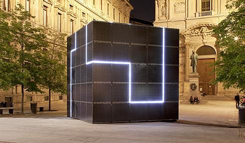 意大利街头的太阳能热点方块