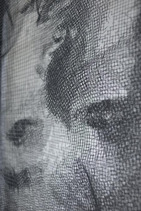 逼真钢丝网肖像画-详细描述-玩意儿