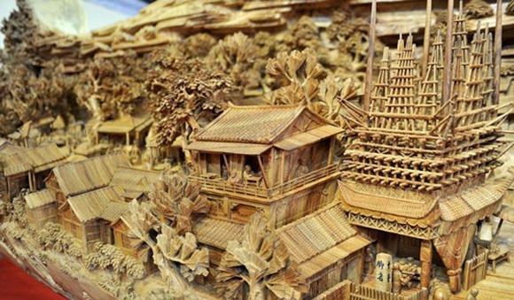 清明上河图木雕—全世界最长的木雕塑