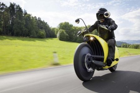 趣怪又动力强劲的蜗牛电动摩托车